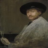 【欣赏级】YHR18083721-美国画家惠斯勒James Abbott McNeill Whistler油画作品高清图片-15M-1963X2701