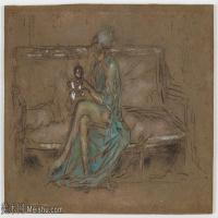 【印刷级】YHR18083753-美国画家惠斯勒James Abbott McNeill Whistler油画作品高清图片-43M-4801X3144