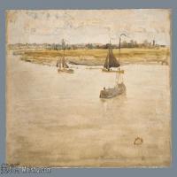 【欣赏级】YHR18083705-美国画家惠斯勒James Abbott McNeill Whistler油画作品高清图片-8M-2211X1352