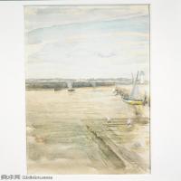 【欣赏级】YHR18083709-美国画家惠斯勒James Abbott McNeill Whistler油画作品高清图片-11M-1704X2275