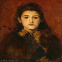 【欣赏级】YHR18083730-美国画家惠斯勒James Abbott McNeill Whistler油画作品高清图片-18M-2168X3000