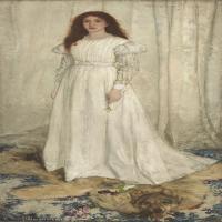 【欣赏级】YHR18083718-美国画家惠斯勒James Abbott McNeill Whistler油画作品高清图片-12M-1499X3000