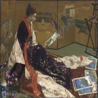 【欣赏级】YHR18083719-美国画家惠斯勒James Abbott McNeill Whistler油画作品高清图片-13M-2536X1880