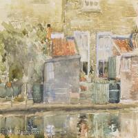 【欣赏级】YHR18083703-美国画家惠斯勒James Abbott McNeill Whistler油画作品高清图片-7M-2000X1224