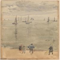 【欣赏级】YHR18083722-美国画家惠斯勒James Abbott McNeill Whistler油画作品高清图片-15M-1788X3000