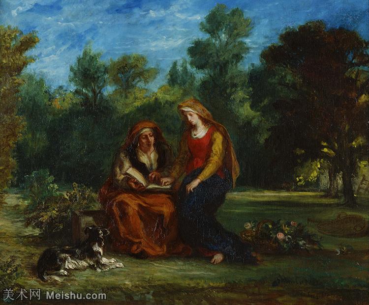 【打印级】YHR18090136-法国浪漫主义大师德拉克罗瓦Delacroix作品集高清大图下载法国画家油画风景作品高清