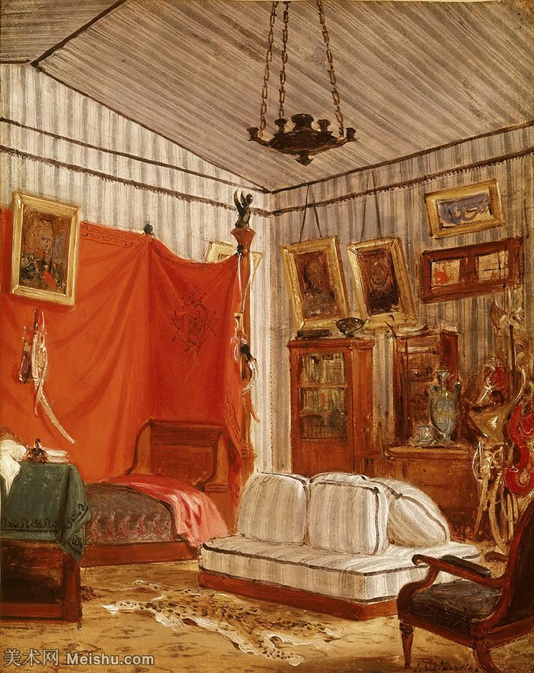 【打印级】YHR18090159-法国浪漫主义大师德拉克罗瓦Delacroix作品集高清大图下载法国画家油画风景作品高清