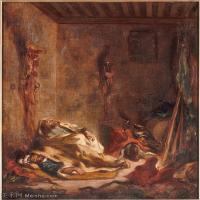 【印刷级】YHR18090183-法国浪漫主义大师德拉克罗瓦Delacroix作品集高清大图下载法国画家油画风景作品高清大图风景油画高清图片-58M-4097X4983