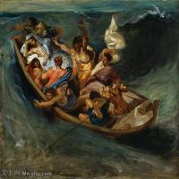 【打印级】YHR18090169-法国浪漫主义大师德拉克罗瓦Delacroix作品集高清大图下载法国画家油画风景作品高清大图风景油画高清图片-38M-4001X3377