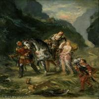【印刷级】YHR18090182-法国浪漫主义大师德拉克罗瓦Delacroix作品集高清大图下载法国画家油画风景作品高清大图风景油画高清图片-56M-3913X5001