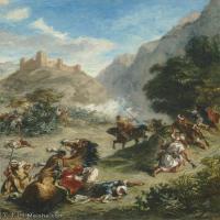 【欣赏级】YHR18090124-法国浪漫主义大师德拉克罗瓦Delacroix作品集高清大图下载法国画家油画风景作品高清大图风景油画高清图片-20M-2351X2973