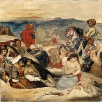 【欣赏级】YHR18090114-法国浪漫主义大师德拉克罗瓦Delacroix作品集高清大图下载法国画家油画风景作品高清大图风景油画高清图片-11M-1904X2156