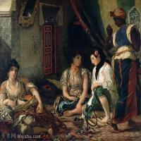 【打印级】YHR18090166-法国浪漫主义大师德拉克罗瓦Delacroix作品集高清大图下载法国画家油画风景作品高清大图风景油画高清图片-36M-4018X3167