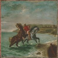 【打印级】YHR18090168-法国浪漫主义大师德拉克罗瓦Delacroix作品集高清大图下载法国画家油画风景作品高清大图风景油画高清图片-38M-4001X3377 (2)