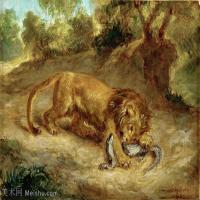 【打印级】YHR18090170-法国浪漫主义大师德拉克罗瓦Delacroix作品集高清大图下载法国画家油画风景作品高清大图风景油画高清图片-39M-4312X3212