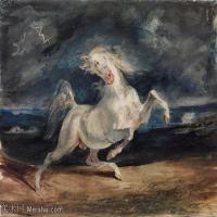 【印刷级】YHR18090187-法国浪漫主义大师德拉克罗瓦Delacroix作品集高清大图下载法国画家油画风景作品高清大图风景油画高清图片-67M-5672X4187