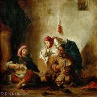 【印刷级】YHR18090176-法国浪漫主义大师德拉克罗瓦Delacroix作品集高清大图下载法国画家油画风景作品高清大图风景油画高清图片-42M-4214X3494