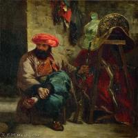 【打印级】YHR18090173-法国浪漫主义大师德拉克罗瓦Delacroix作品集高清大图下载法国画家油画风景作品高清大图风景油画高清图片-40M-3350X4214