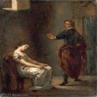 【欣赏级】YHR18090118-法国浪漫主义大师德拉克罗瓦Delacroix作品集高清大图下载法国画家油画风景作品高清大图风景油画高清图片-19M-2263X2940
