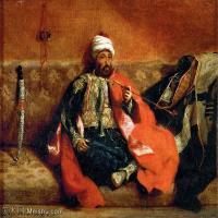 【打印级】YHR18090171-法国浪漫主义大师德拉克罗瓦Delacroix作品集高清大图下载法国画家油画风景作品高清大图风景油画高清图片-40M-4116X3404