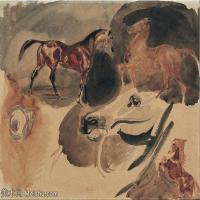 【欣赏级】YHR18090101-法国浪漫主义大师德拉克罗瓦Delacroix作品集高清大图下载法国画家油画风景作品高清大图风景油画高清图片-2M-1052X847