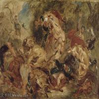 【印刷级】YHR18090186-法国浪漫主义大师德拉克罗瓦Delacroix作品集高清大图下载法国画家油画风景作品高清大图风景油画高清图片-63M-5557X3972