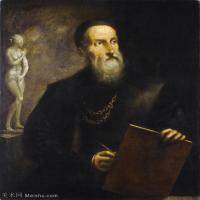 【欣赏级】YHR180943098-意大利画家提香韦切利奥Tiziano Vecellio西方油画之父提香大师作品高清图片威尼斯画派-20M-2421X2887