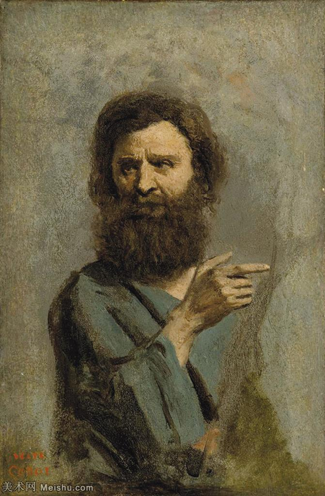【欣赏级】YHR080954022-法国写实主义风景画肖像画家柯罗Jean Baptiste Camille Corot