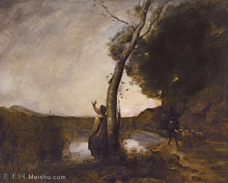 【欣赏级】YHR080954053-法国写实主义风景画肖像画家柯罗Jean Baptiste Camille Corot