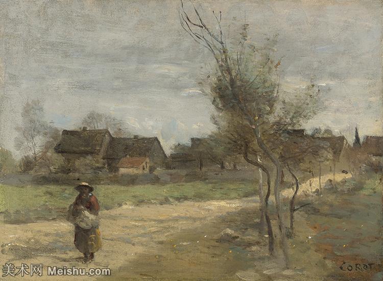 【打印级】YHR080954223-法国写实主义风景画肖像画家柯罗Jean Baptiste Camille Corot