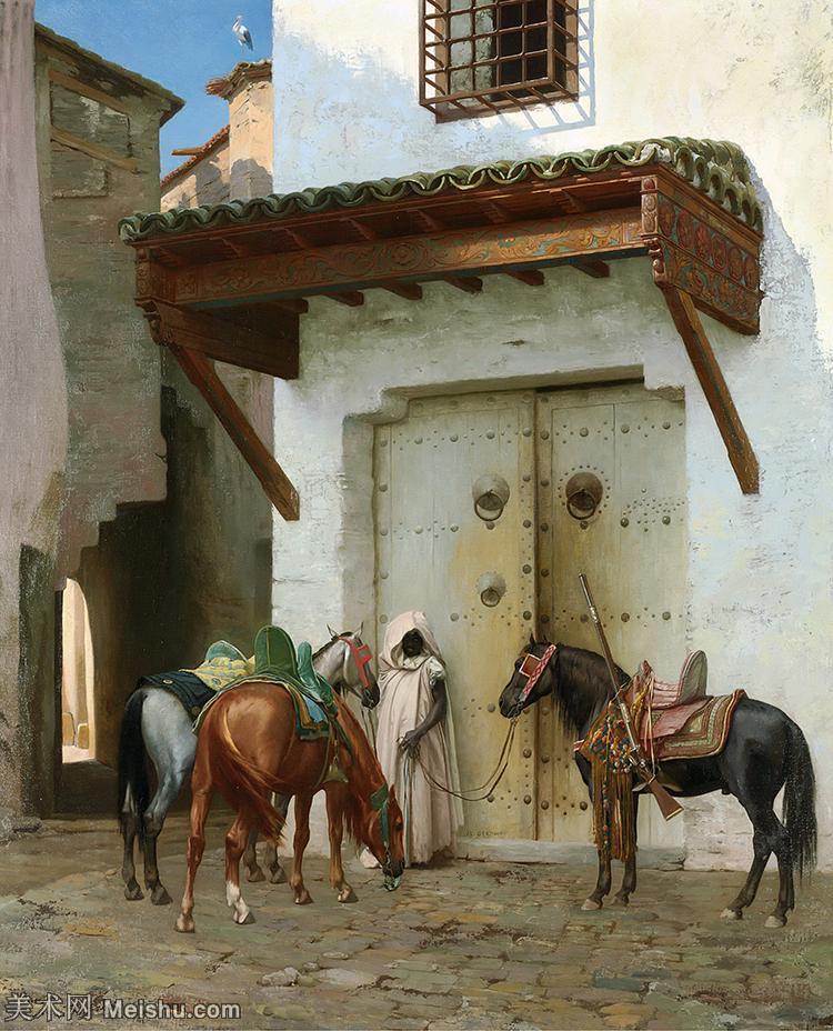 【欣赏级】YHR180948065-法国法国学院派画家让莱昂杰罗姆Jean LeonGerome油画作品高清图片-18M