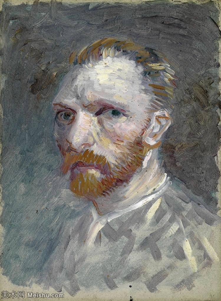 【打印级】YHR181043123-印象派大师梵高油画自画像凡高作品高清大图梵高星空高清大图Self-Portrait1