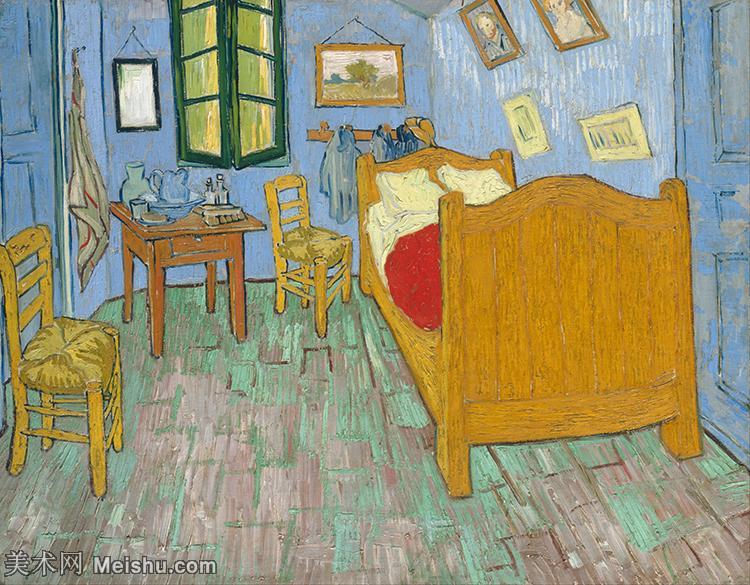 【超顶级】YHR181049321-世界名家梵高经典绘画作品高清大图下载大师经典油画作品高清图片The Bedroom