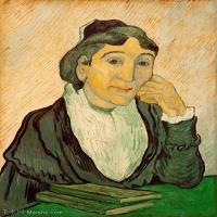 【打印级】YHR181043070-印象派大师梵高油画自画像凡高作品高清大图梵高星空高清大图L′Arlesienne (Madame Ginoux)2