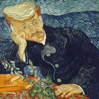 【欣赏级】YHR181043019-印象派大师梵高油画自画像凡高作品高清大图梵高星空高清大图Portrait of Doctor Gachet-12M-1890X2252