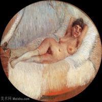 【打印级】YHR181043096-印象派大师梵高油画自画像凡高作品高清大图梵高星空高清大图Nude Woman on a Bed-32M-3677X3040