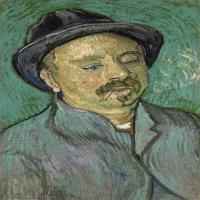 【打印级】YHR181043098-印象派大师梵高油画自画像凡高作品高清大图梵高星空高清大图Portrait of a One-Eyed Man-32M-2695X4200
