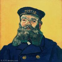 【打印级】YHR181043076-印象派大师梵高油画自画像凡高作品高清大图梵高星空高清大图Portrait of the Postman Joseph Roulin6-27M-2852X3353