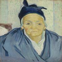 【打印级】YHR181043120-印象派大师梵高油画自画像凡高作品高清大图梵高星空高清大图An Old Woman of Arles-36M-3066X4200
