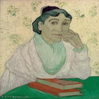 【打印级】YHR181043072-印象派大师梵高油画自画像凡高作品高清大图梵高星空高清大图L′Arlesienne (Madame Ginoux)