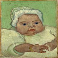 【打印级】YHR181043111-印象派大师梵高油画自画像凡高作品高清大图梵高星空高清大图The Baby Marcelle Roulin3-35M-2925X4200