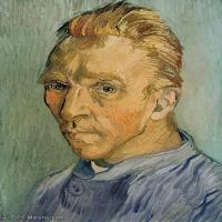 【打印级】YHR181043067-印象派大师梵高油画自画像凡高作品高清大图梵高星空高清大图Self-Portrait11-25M-2655X3353