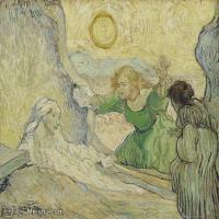【打印级】YHR181043132-印象派大师梵高油画自画像凡高作品高清大图梵高星空高清大图The Raising of Lazarus (after Rembrandt)-38M-4200X3212