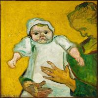 【打印级】YHR181043095-世界名家梵高经典绘画作品高清大图下载大师经典油画作品高清图片Madame Roulin and Her Baby-31M-2987X3721