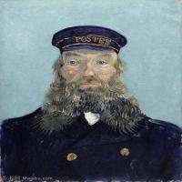 【打印级】YHR181043133-印象派大师梵高油画自画像凡高作品高清大图梵高星空高清大图Portrait of the Postman Joseph Roulin4-38M-3223X4200