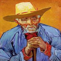 【打印级】YHR181043057-印象派大师梵高油画自画像凡高作品高清大图梵高星空高清大图Portrait of Patience Escalier2-23M-2599X3190