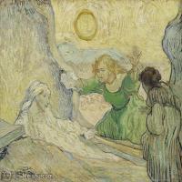 【打印级】YHR181049127-世界名家梵高经典绘画作品高清大图下载大师经典油画作品高清图片The raising of Lazarus (after Rembrandt) (May 1890 -