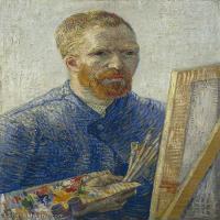 【打印级】YHR181043077-世界名家梵高经典绘画作品高清大图下载大师经典油画作品高清图片Self-Portrait 1888-27M-2704X3543