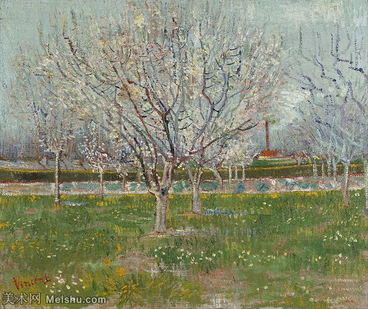 【打印级】YHR181049211-著名荷兰后印象派画家文森特梵高Vincent van Gogh手稿油画作品图片-Or