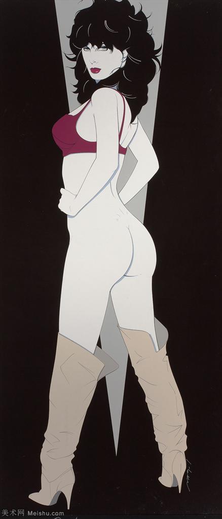 【欣赏级】ZSHR17143502-美国现代画家帕特里克安吉尔Patrick Nagel绘画作品高清图片-11M-128